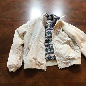 LLBean white puffy coat